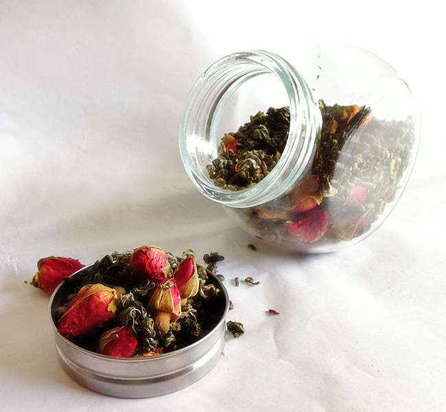 Organic Rosebud Green Tea Spice Jar